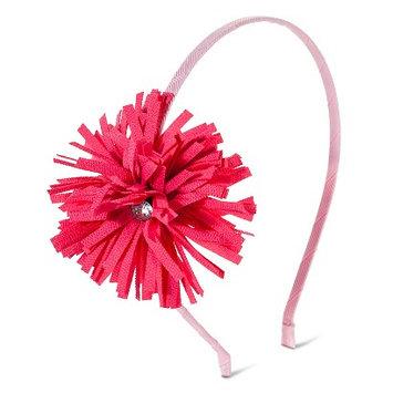 Crimzon Rose Girls' Floral Pom Headband - Pink