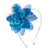 Crimzon Rose Girls' Floral Pom Headband - Blue