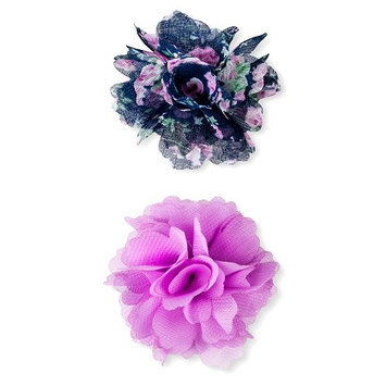 Crimzon Rose Girls' 2-Pack Floral Hair Clips