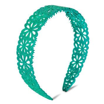 Crimzon Rose Girls' Glitter Floral Headband - Teal