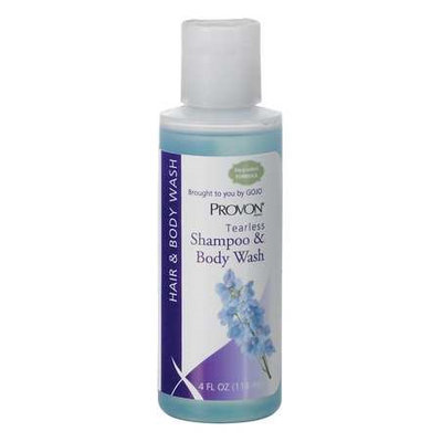 Provon Tearless Shampoo and Body Wash (Fresh, Clean Fragrance, 4 oz, 48) [PK/48]. Model: 4503-48