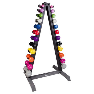 Body-solid Body Solid Vertical Dumbell Rack with 12 Pairs Neoprene Dumbells 1-15LBS - (GDR24-Npack)