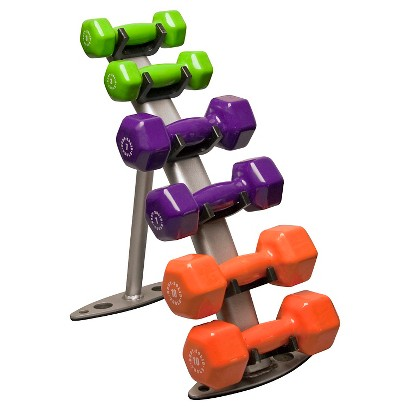 Body-solid Body Solid 3 Pair Dumbell Rack with Vinyl Dumbells 3LBS, 7LBS, 10LBS