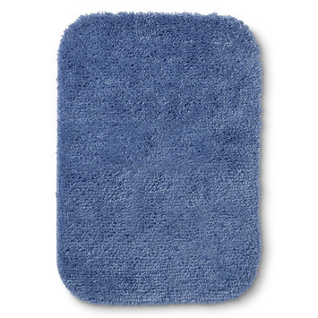 Room Essentials Bath Mat - Washed Indigo (17x24