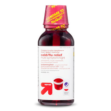 up & up Cold & Flu Relief Multi-Symptom Night Cherry Liquid - 12 oz