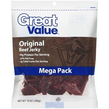 Great Value Original Beef Jerky Mega Pack, 10 oz
