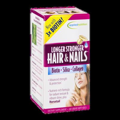 Applied Nutrition Longer Stronger Hair & Nails Dietary Supplement Liquid Soft-Gels - 60 CT