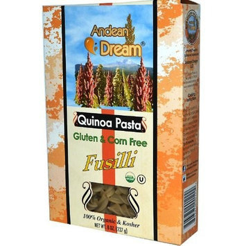 Andean Dream Quinoa and Corn Fusilli Pasta, 8-Ounce