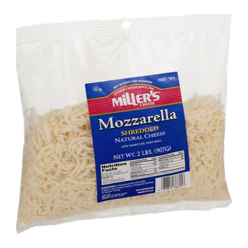 Miller's Cheese Mozzarella Shredded