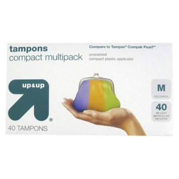 up & up up&up Unscented Compact Plastic Applicator Tampons - 40 Count