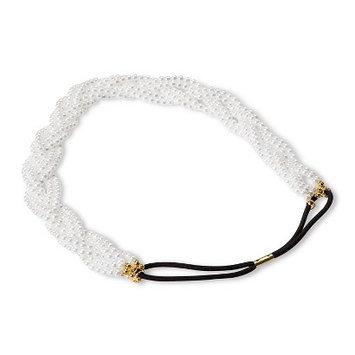 Capsule By Cara Women's Capsul by Cara Multiple Strand Braided Pearl Stretch Headband