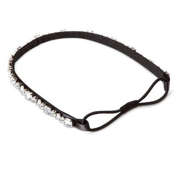 Capsule By Cara Women's Capsul by Cara Crystal Accent Stretch Headband - Black