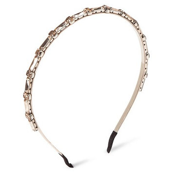 Capsule By Cara Women's Capsul by Cara Skinny Crystal Accent Headband - Ivory