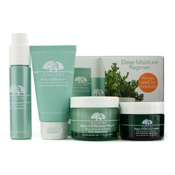 Origins Make A Difference Deep Moisture Regimen: Cleansing Milk 50ml + Serum 30ml + Treatment 50ml + Moisturizer 30ml 4pcs