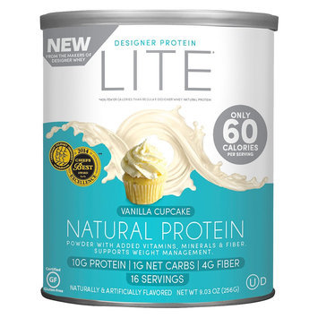 Designer Protein Lite Vanilla Cupcake Natural Protein Powder - 9.03 oz
