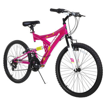Girl's Magna Outreach Full Suspension Mountain Bike - Pink (24