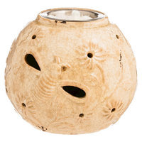 Evergreen Enterprises Dragonfly And Flower CutOut Cream Ceramic Fireside