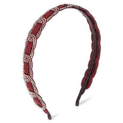 Capsule By Cara Women's Capsul by Cara Studded Links Headband - Maroon Red