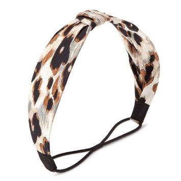 Capsule By Cara Women's Capsul by Cara Animal Print Formed Headwrap - Brown