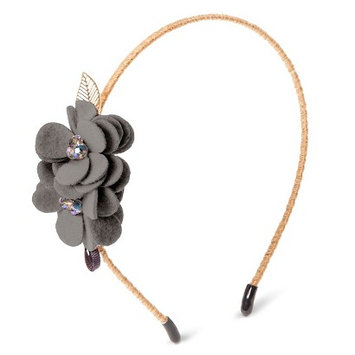 Capsule By Cara Women's Capsul by Cara Soft Floral Headband - Gray