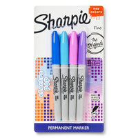 Sharpie Fine Tip Permanent Marker in Assorted Colors - 4ct