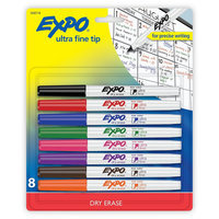 Rubbermaid Expo Ultra Fine Dry Erase Markers 8ct Assorted, Multi-Colored