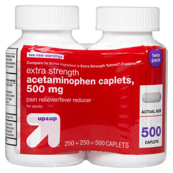 up & up Pain Reliever Fever Reducer Acetaminophen Caplets - 500 Count