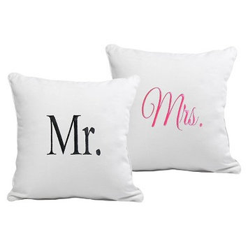 Cathys Concepts Mr. & Mrs. Throw Pillow Set