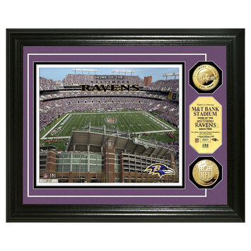 Bullion International,inc Highland Mint Baltimore Ravens Gold Flashed Coin Photo Mint (Black)