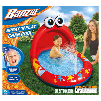 Banzai Spray 'N Play Crab Kiddie Pool