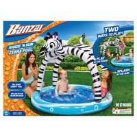 Banzai Shade 'N Sun Zebra Inflatable Swimming Pool