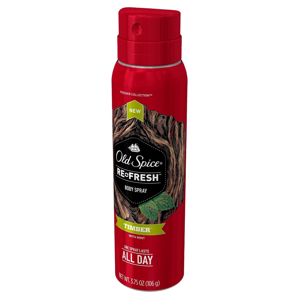 Old Spice Fresher Collection Timber Scent Men's Body Spray 3.75 oz