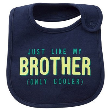 Just One You Made By Carter's Just One YouMade by Carter's Newborn Boys' Just Like My Bro Bib Navy