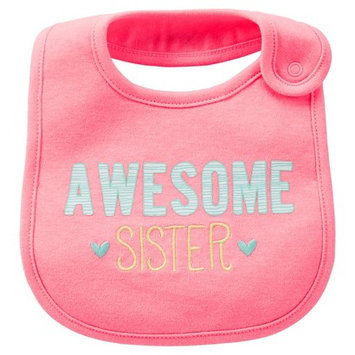 Just One You Made By Carter's Just One YouMade by Carter's Newborn Girls' Just Like My Sis Bib Pink