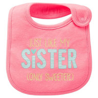 Just One You Made By Carter's Just One YouMade by Carter's Newborn Girls' Awesome Sister Bib Pink