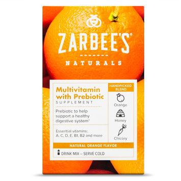 Zarbee's Naturals Orange Multivitamin with Prebiotic Powder - 10 Count
