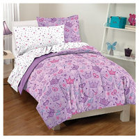 Dream Factory Stars & Crown Mini Bed-in-a-Bag - Purple (Toddler)