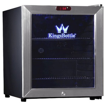 Kingsbottle 36 Can Stainless Steel Mini Bar Fridge