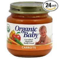 Organic Baby Organic Baby Food, Carrots, 4-Ounce Jars (Pack of 24)