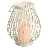 Gerson LED Candle & Basket Lantern Set