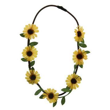 Joyen Enterprise Co., Ltd. Women's Headband with Large Fabric Flowers - Brown/Yellow