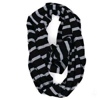 Itzy Ritzy Nursing Happens Infinity Breastfeeding Scarf - Platinum Stripe