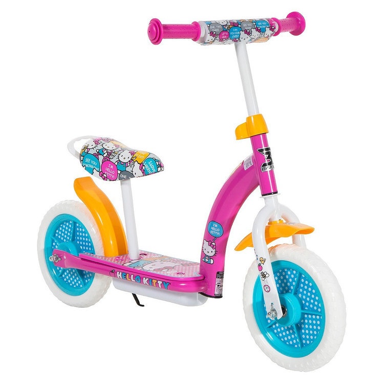 "Chitech Hello Kitty 2in1 Balance Bike and Scooter - Pink (10"")"