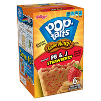 Kellogg's Pop-Tarts Gone Nutty PB & J Strawberry Toaster Pastries