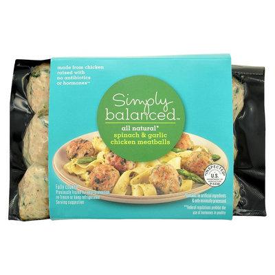 Simply Balanced Spinach & Garlic Chicken Meatballs 12 oz