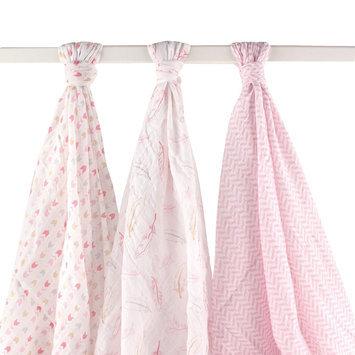 Hudson Baby Baby Muslin Swaddle Blanket 3-Pack Pink