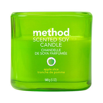 method apple slice scented soy candle