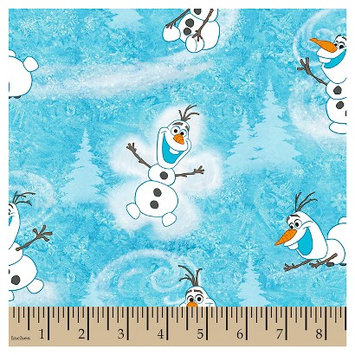 Frozen Olaf Winter Toss Fabric