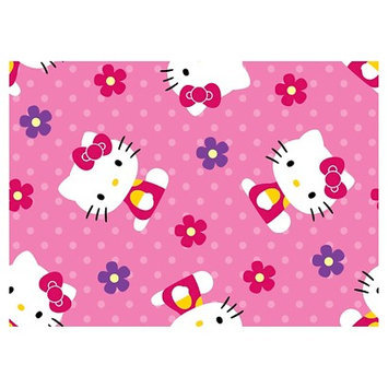 Hello Kitty Flowers & Dots Fleece Fabric