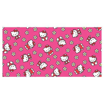 Hello Kitty Flower Toss Flannel Fabric